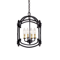 World Import Designs Hastings 4 Light Foyer Lantern in Rust 61406-42