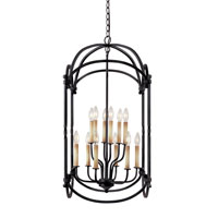 World Import Designs Hastings 12 Light Foyer Lantern in Rust 61407-42