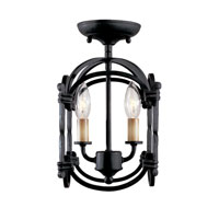 World Import Designs Hastings 2 Light Semi-Flush Mount in Rust 61409-42