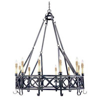 Chaumont 12 Light 49 inch Textured Rust Pot Rack Ceiling Light