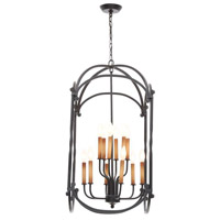 Hastings 12 Light 24 inch Rust Lantern Ceiling Light