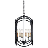Hastings 6 Light 16 inch Rust Lantern Ceiling Light