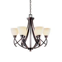 World Import Designs Beyond Modern 6 Light Chandelier in Weathered Copper 61515-56