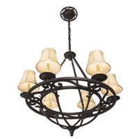 World Import Designs Jacobean 6 Light Chandelier in Rust 61814-42 photo thumbnail