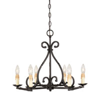 World Import Designs Rennes 6 Light Chandelier in Rust 61817-42