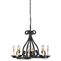 World Import Designs Rennes 8 Light Chandelier in Rust 61818-42