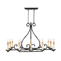 World Import Designs Rennes 12 Light Chandelier in Rust 61819-42