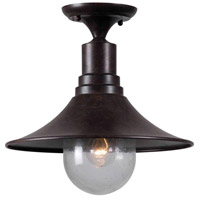Brandon 1 Light 13 inch Bronze Semi Flush Mount Ceiling Light