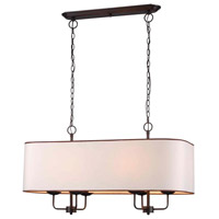 Colonial 6 Light 38 inch Euro Bronze Island Pendant Ceiling Light