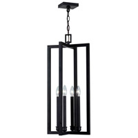 Cathedral 4 Light Rust Pendant Ceiling Light
