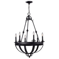 Magellen 6 Light 24 inch Rust Chandelier Ceiling Light