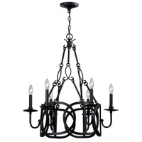 Bellingham 6 Light 28 inch Rust Candle Chandelier Ceiling Light