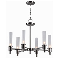 Dunwoody 6 Light 24 inch Satin Nickel Chandelier Ceiling Light