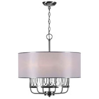 Venn 6 Light 22 inch Brushed Nickel Chandelier Ceiling Light