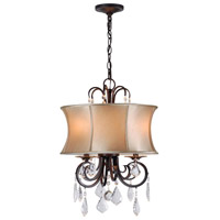 Annelise 3 Light 16 inch Bronze Convertible Chandelier Ceiling Light