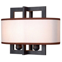 Cathedral 2 Light 12 inch Rust Wall Sconce Wall Light
