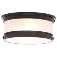 Nikolai 2 Light 15 inch Oil Rubbed Bronze Flush Mount Ceiling Light