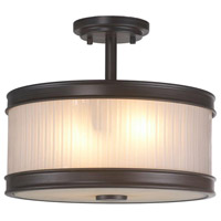 Nikolai 2 Light 14 inch Oil Rubbed Bronze Semi-Flush Mount Ceiling Light