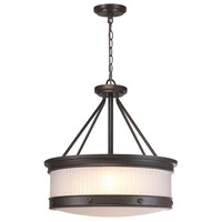Nikolai 3 Light Oil Rubbed Bronze Pendant Ceiling Light