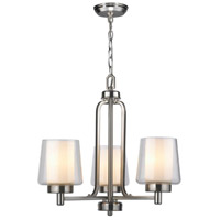 Renee 3 Light 22 inch Brushed Nickel Chandelier Ceiling Light