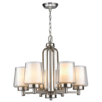 Renee 6 Light 22 inch Brushed Nickel Chandelier Ceiling Light