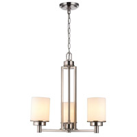 Kole 3 Light 24 inch Brushed Nickel Chandelier Ceiling Light
