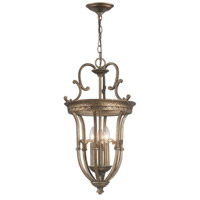 Hayley 3 Light Distressed Bronze Pendant Ceiling Light