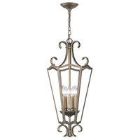 Hayley 5 Light Distressed Bronze Pendant Ceiling Light
