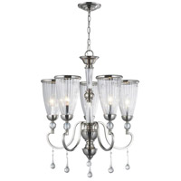 Amber Marie 5 Light 13 inch Oil Rubbed Bronze Chandelier Ceiling Light, Crystal Adorned