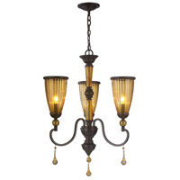 Amber Marie 3 Light 22 inch Oil Rubbed Bronze Chandelier Ceiling Light, Crystal Adorned