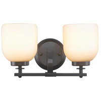 Kelly 2 Light 8 inch Oil Rubbed Bronze Wall Sconce Wall Light