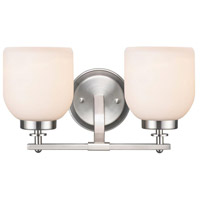 Kelly 2 Light 8 inch Brushed Nickel Wall Sconce Wall Light