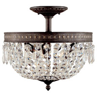 Bijoux 3 Light 16 inch Flemish Semi-Flush Mount Ceiling Light