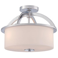 Kandinsky 3 Light 9 inch Chrome Semi-Flush Mount Ceiling Light