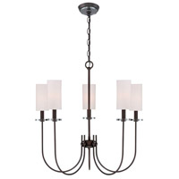 Monroe 5 Light 26 inch Dark Antique Bronze Chandelier Ceiling Light