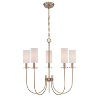 Monroe 5 Light 26 inch Satin Gold Chandelier Ceiling Light