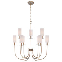 Monroe 9 Light 31 inch Satin Gold Chandelier Ceiling Light