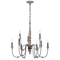 Capra 9 Light 13 inch Rust Chandelier Ceiling Light
