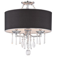 Elton 3 Light 18 inch Chrome Flush Mount Ceiling Light