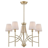 Millau 5 Light 7 inch Satin Gold Chandelier Ceiling Light