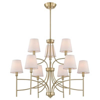 Millau 9 Light 7 inch Satin Gold Chandelier Ceiling Light