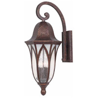 Balin 3 Light 28 inch Burnished Antique Copper Outdoor Wall Sconce