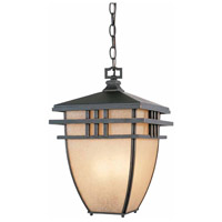 Lloyd 3 Light 11 inch Aged Bronze Patina Outdoor Hanging Light