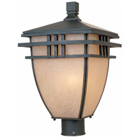 Lloyd 3 Light 19 inch Aged Bronze Patina Outdoor Post Light