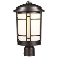Barrister LED 15 inch Burnished Bronze Outdoor Post Light