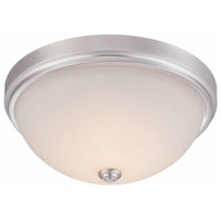 Hopkins LED 13 inch Satin Nickel Flush Mount Ceiling Light