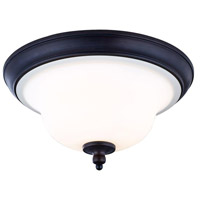 Ethelyn 3 Light 17 inch Oil Rubbed Bronze Flush Mount Ceiling Light