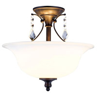 Ethelyn 2 Light 15 inch Oil Rubbed Bronze Semi-Flush Mount Ceiling Light