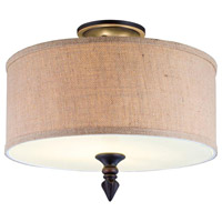 Jaxson 2 Light 15 inch Oil Rubbed Bronze Semi-Flush Mount Ceiling Light