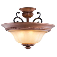 Elysia 3 Light 21 inch Aged Iron Semi-Flush Mount Ceiling Light